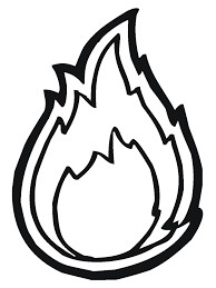 Fire Coloring Pages Tongues Of Headband Template Jesus Storybook