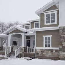 home white. Dark Brown Houses White Trim Home