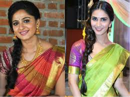 hairstyles for traditional sarees