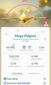 Pokemon Go Shiny Pidgeot ( can mega evolve ), Video Gaming, Gaming  Accessories, Game Gift Cards & Accounts on Carousell