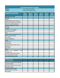 Business Analysis Templates Free 24 Cost Benefit Analysis Templates Examples Template Lab 15