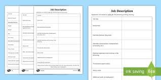 writing a job description template. NEW Job Description Writing Template writing template job