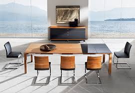 designer dining room chairs. Contemporary Long Modern Brown Wood Andh Half Glass Table Dining Room Set With Leather Chair And Beautiful Painting Designer Chairs O