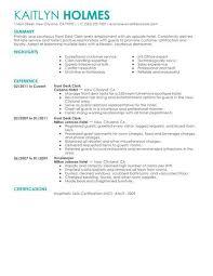 Front Desk Sample Resume Sample Resume For Receptionist Sample