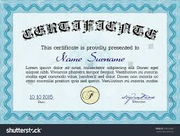 sample certificate diploma vector certificate template stock  sample certificate or diploma vector certificate template complex linear background retro design