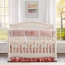 watercolor fl linen perless crib bedding