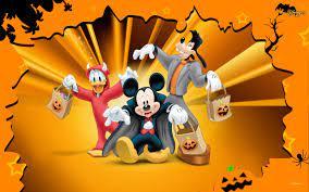 Hình nền : hình minh họa, chuột Mickey, vịt Donald, Ngốc nghếch, Anime,  Halloween, hoạt hình, trái cam, Disney, Truyện tranh, Trò chơi, Ảnh chụp  màn hình 1280x800 - spooky - 100987 -
