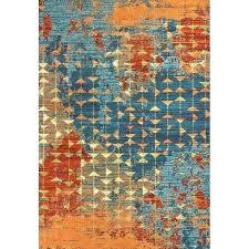 orange bath rugs chunky loop cotton rubber backed bath rug burnt