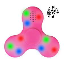 Fidget Spinner With Led Lights And Speaker Bluetooth Fidget Spinner With Speaker Colourful Led Lights Pink
