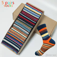 whole casual mens socks chromatic stripe five pairs of socks man with the final design clothing fashion designer style cotton no box of socks designer