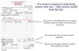 service call invoice why choose b d appliance b d appliance repair palmdale ca