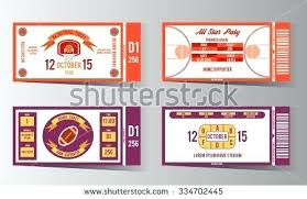 Rugby And Basketball Ticket Design Template Card Invitation Game ...