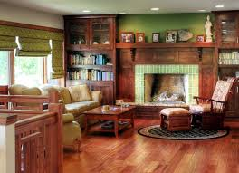 fascinating craftsman living room chairs furniture: interior fascinating family room with traditional fireplace with green tile surround also upholstered chaise lounge chairs on round area rug combined with