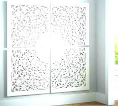 carved wall decor white