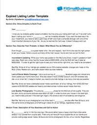 Expired Listing Letter Free Examples That Work