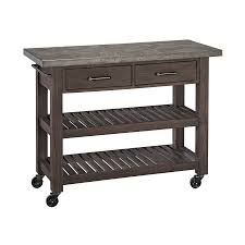 home styles concrete chic brown gray acacia outdoor serving cart