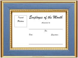 Printable Employee Of The Month Certificates Free Blank Employee Of The Month Certificate 1956