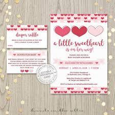 Valentines Day Invitations Inspiration Valentine Baby Shower Invitation Pink Hearts Valentine's Day Invite