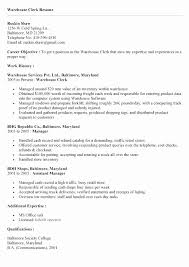 Retail Sales Clerk Resume Peaceful Clerical Resume Objectives