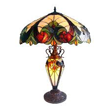 chloe lighting victorian 25 in dark antique bronze table lamp with glass shade