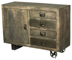 wood storage cabinets. modern rustic industrial rolling solid wood storage cabinet w drawers accent-chests-and- cabinets