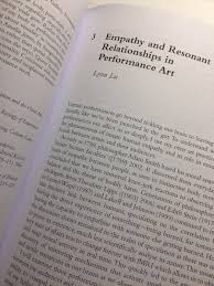 empathy and resonant relationships in performance art essay in empathy and resonant relationships in performance art essay in new book 15 2016 by lynn lu