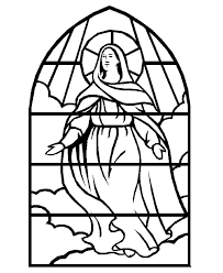 Stained Glass Coloring Pages Getcoloringpagescom
