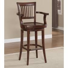 furniture amazing traditional brown wooden bar stool with arms and furniture amazing traditional brown wooden bar stool with arms and wod cap back on
