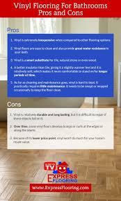 pros and cons bathroom vinyl flooring infographic