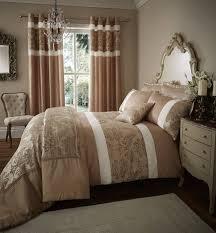 glamour jacquard bedding sets golden brown