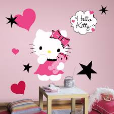 Pink And Black Bedroom Wallpaper Hello Kitty Couture Wall Decals Girls Bedroom Stickers Pink Room
