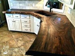 make wood kitchen walnut slab natural home depot countertops acacia countertop use planks to your own genuine