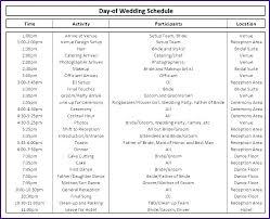 Wedding Timeline Spreadsheet Wedding Day Checklist Template Timeline