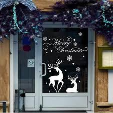 Rosenice Fenster Sticker Weihnachten Hirsch Schneeflocke