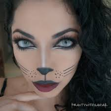drawing a cat face for kitty cat make up beautywithsahar