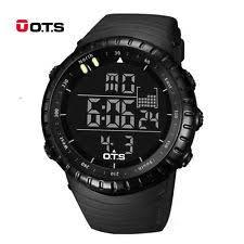 ots watch top brand ots led digital men climbing outdoor sports waterproof wristwatch band