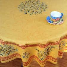 70in round or 90in round coated french tablecloth