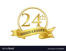 24th Anniversary Celebration Logo Vector Image