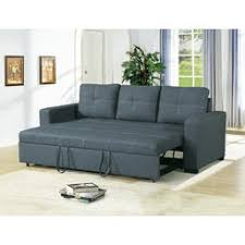 Image Convertible Esofastore Convertible Sofa Blue Grey Polyfiber Modern Accent Stitching Comfort Plush Couch Sofa Pull Out Rc Willey Sofas Loveseats On Sale Casual Sears