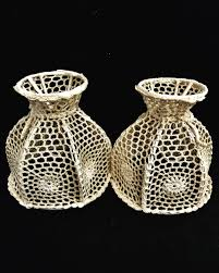 Boho Light Shade Macrame Vintage Lamp Shade Set 2 Beige Boho Decor