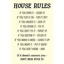 bedroom rules. bedroom rules r