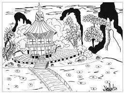 Dessin Japon Temple Par Valentin Japon Coloriages Difficiles
