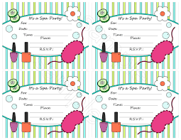 Free Spa Party Invitation Template Diy And Crafts Spa Party Spa
