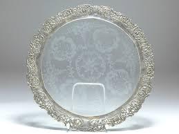 cake plate on base albo 835 silver hildesheimer rose d 34 5 cm