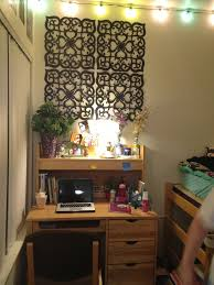 college dorm desk my garden ey touch lights wall decoration