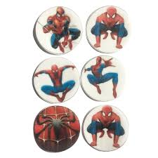 Detail Feedback Questions About Spiderman Edible Wafer Paper For Cup