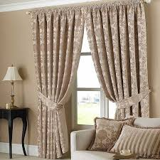 sophisticated curtains with matching curtain holders