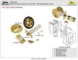 Pocket Door Retrofit Johnson Pocket Door Hardware Roselawnlutheran