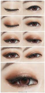like this but with more of ash brown stone grey colors aaas korean eye makeup