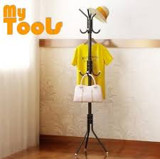 12 hooks hanging pole for hat clothes jacket umbrella and handbag black